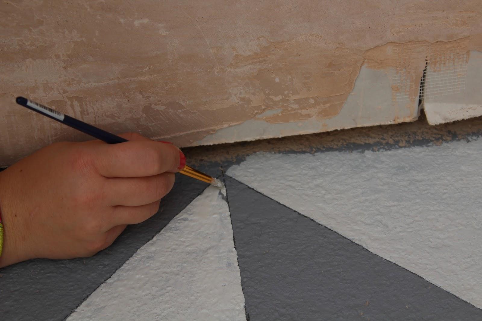 Handpainted floor ideas