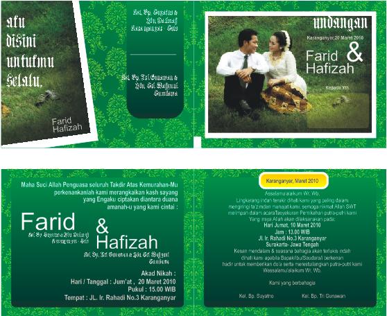 Contoh Desain Undangan Pernikahan format Coreldraw gratis