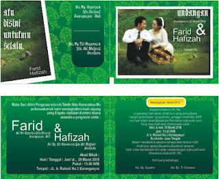 Download Desain Undangan Pernikahan Unik Romantic Green Day Format Coreldraw (Filetype:CDR)