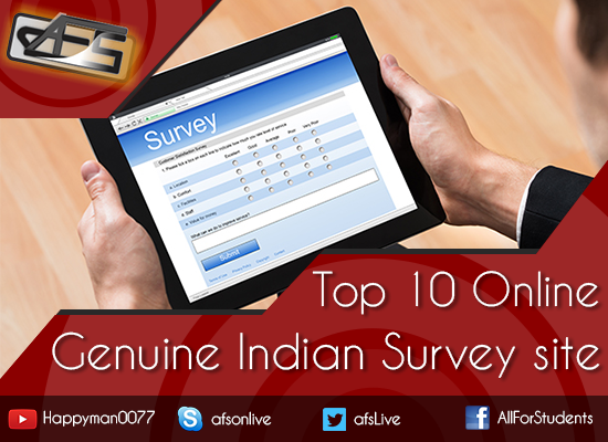 Top 10 genuine trusted Indian survey panel list part time jobs for students