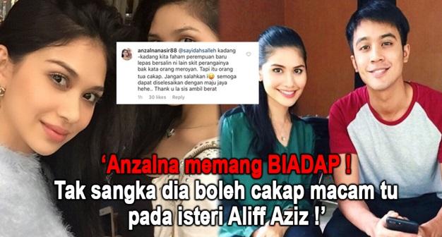 SEMAKIN PANAS ! Tak Tahan Tengok Adiknya Kena Kecam, Anzalna Masuk Campur, HINA Isteri Aliff Aziz Yg Tak Bersalah
