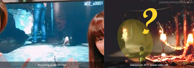 The monitor image (left) shares a close resemblance to part of a scene from the Gamescom teaser video (right).
