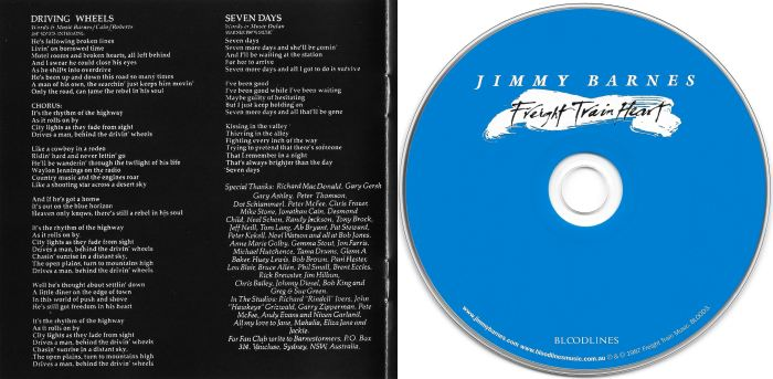 JIMMY BARNES - Freight Train Heart [Remastered from the Master Tapes] (2017) disc