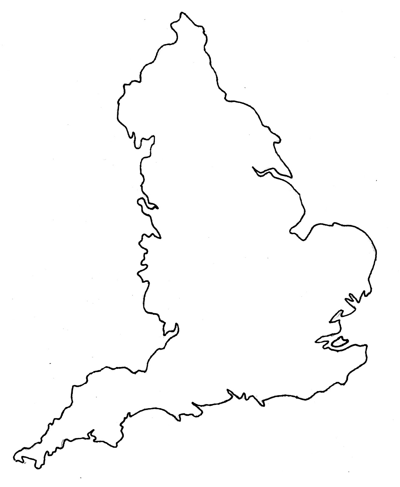 Blank Map England