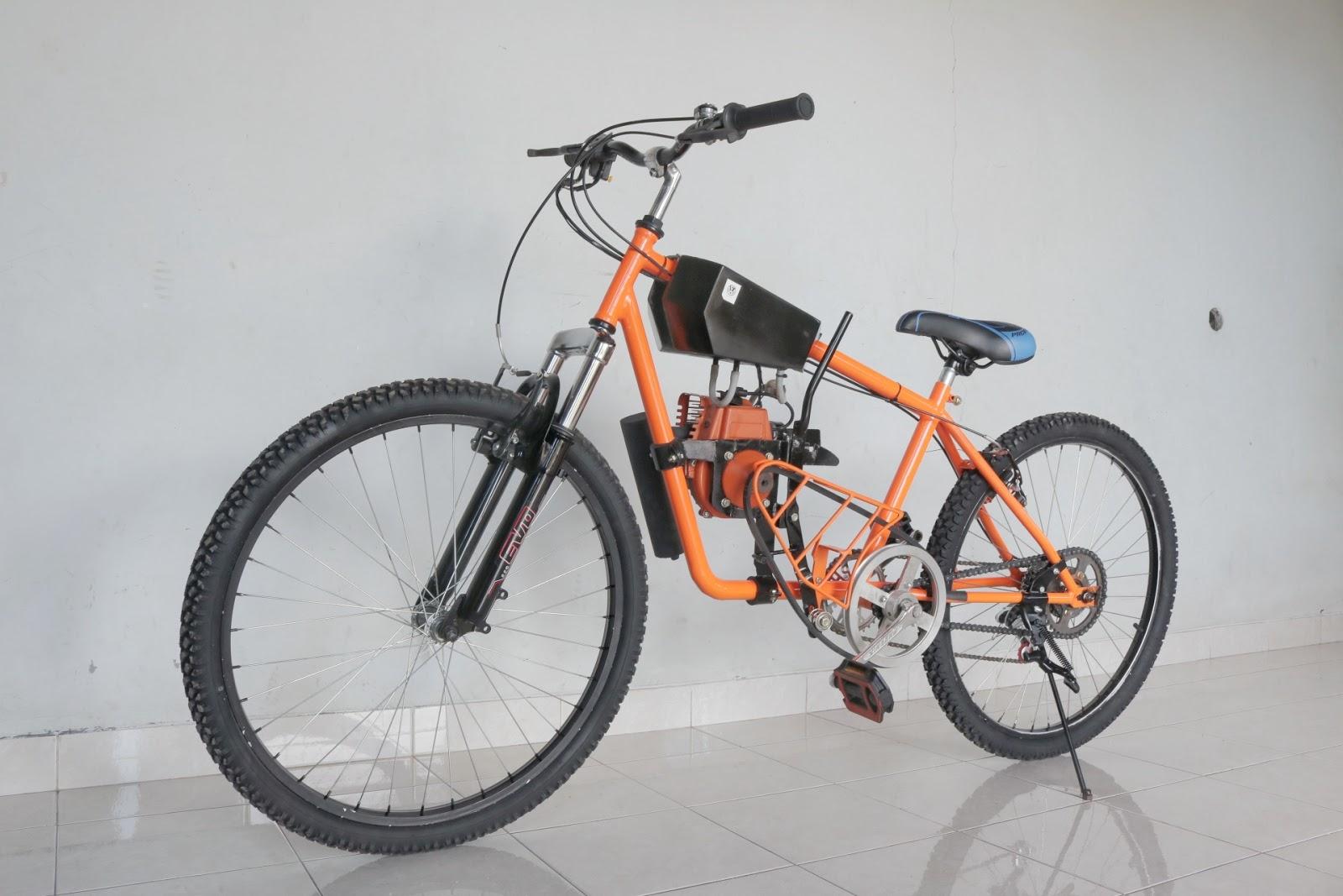 Modifikasi Sepeda Mesin Potong Rumput 35 5 Cc Info Motor Classic