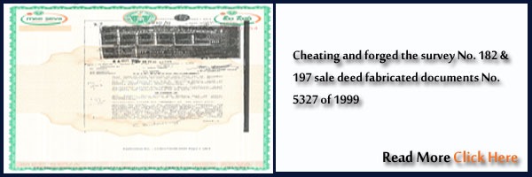 Sale deed Cheating and forged fabricated documents No.5327 of 1999