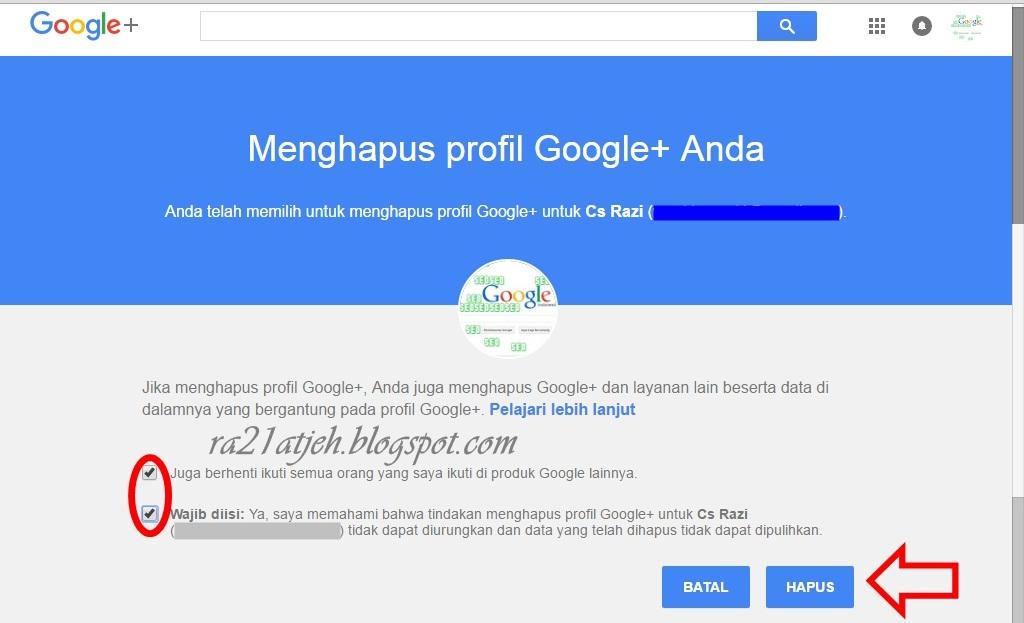 cara menghapus akun google plus   ra21 atjeh