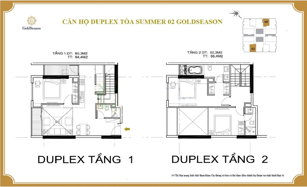 căn hộ duplex goldseason