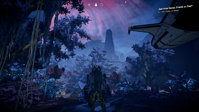 A world made up of colorful plants and foliage in Mass Effect Andromeda