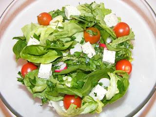 retete salate reteta salata de post cu branza tofu,