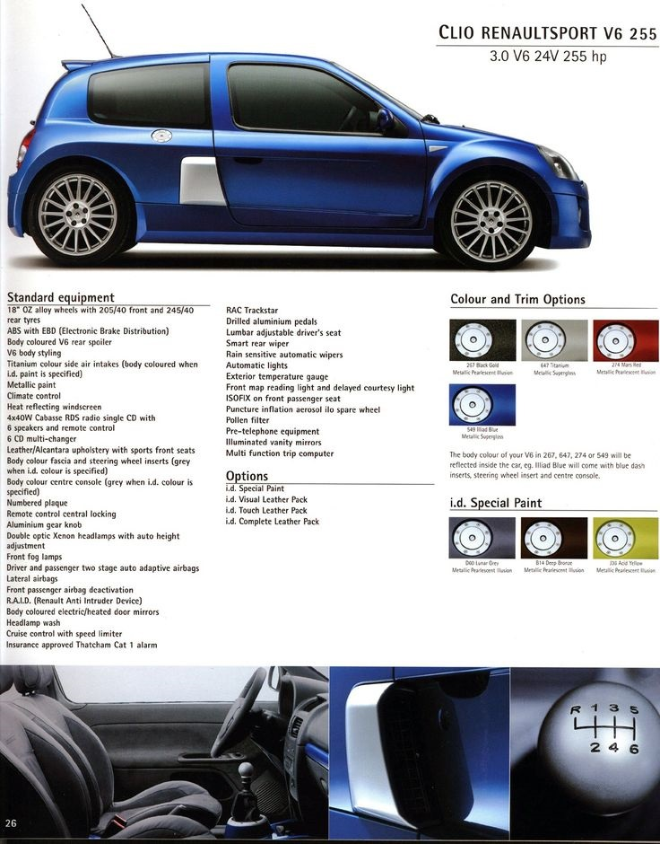 Brochure Renault Clio V6 Phase 2