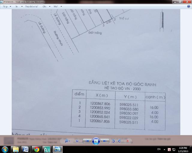 Cách kiểm tra thông tin trên bản đồ quy hoạch từ bảng liêt kê tọa độ góc ranh