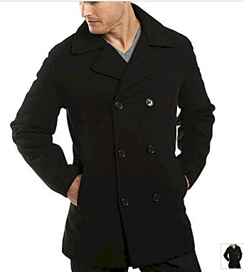 9d5fde5e0c48 Get this lightweight men s pea coat for  19 from JCPenney. It s available  in black