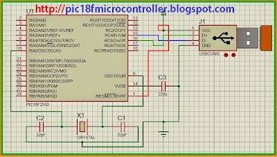 usb connection with pic microcontroller