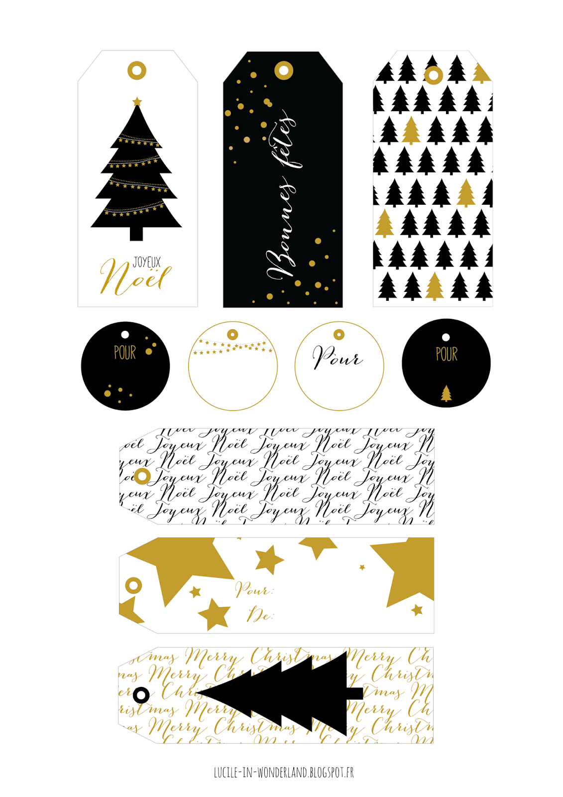 printable étiquettes de noël christmas tag diy imprimer lucileinwonderland blog lifestyle