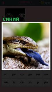 у змеи в пасти застрял синий слизняк