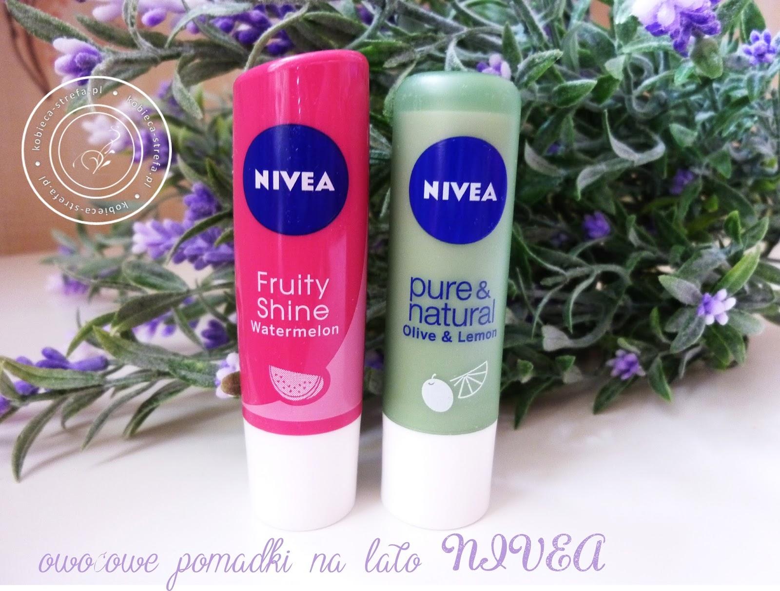 Owocowe szaleństwo z pomadkami Nivea - arbuz oraz oliwka&cytryna