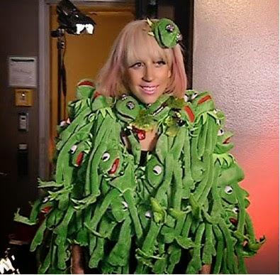 Lady Gaga con el vestido de la Rana Gustavo