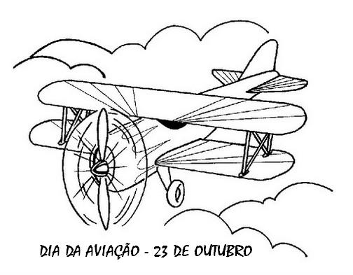 Moldes De Aviao Para Imprimir: DIA DA AVIAÇÃO DESENHOS EXERCÍCIOS ATIVIDADES COLORIR