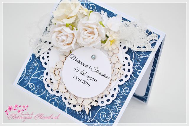 Kartka z okazji 45 rocznicy ślubu