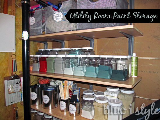 organizing with style roundup of spray paint storage solutions blue i style creating an. Black Bedroom Furniture Sets. Home Design Ideas