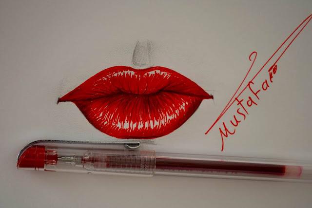 تعلم رسم الفم
