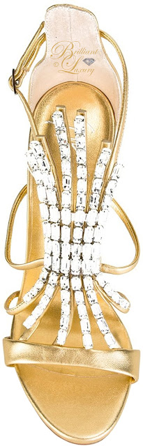 Brilliant Luxury ♦ Giuseppe Zanotti Belle gold laminated stiletto sandals