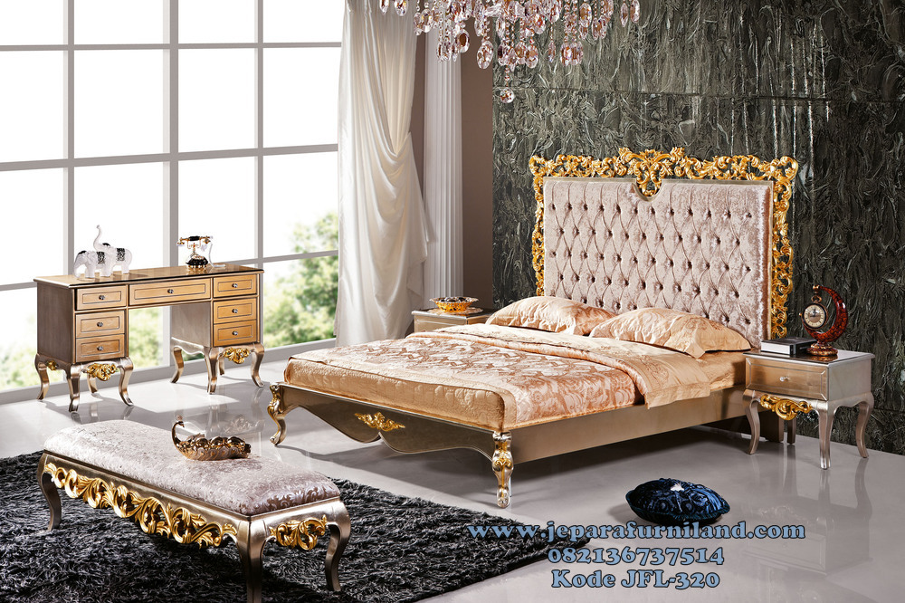 gambar set kamar tidur utama mewah klasik modern info
