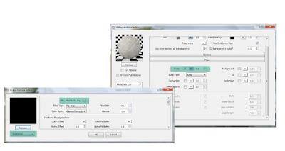 V-ray material editor: Travertine tile settings
