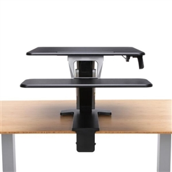 clamp on sit to stand workstation