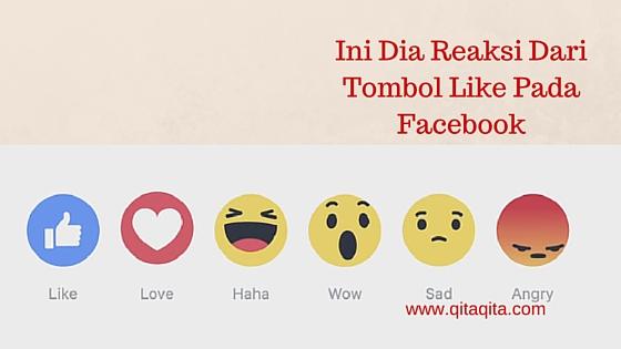 Ini dia reaksi dari tombol like pada facebook