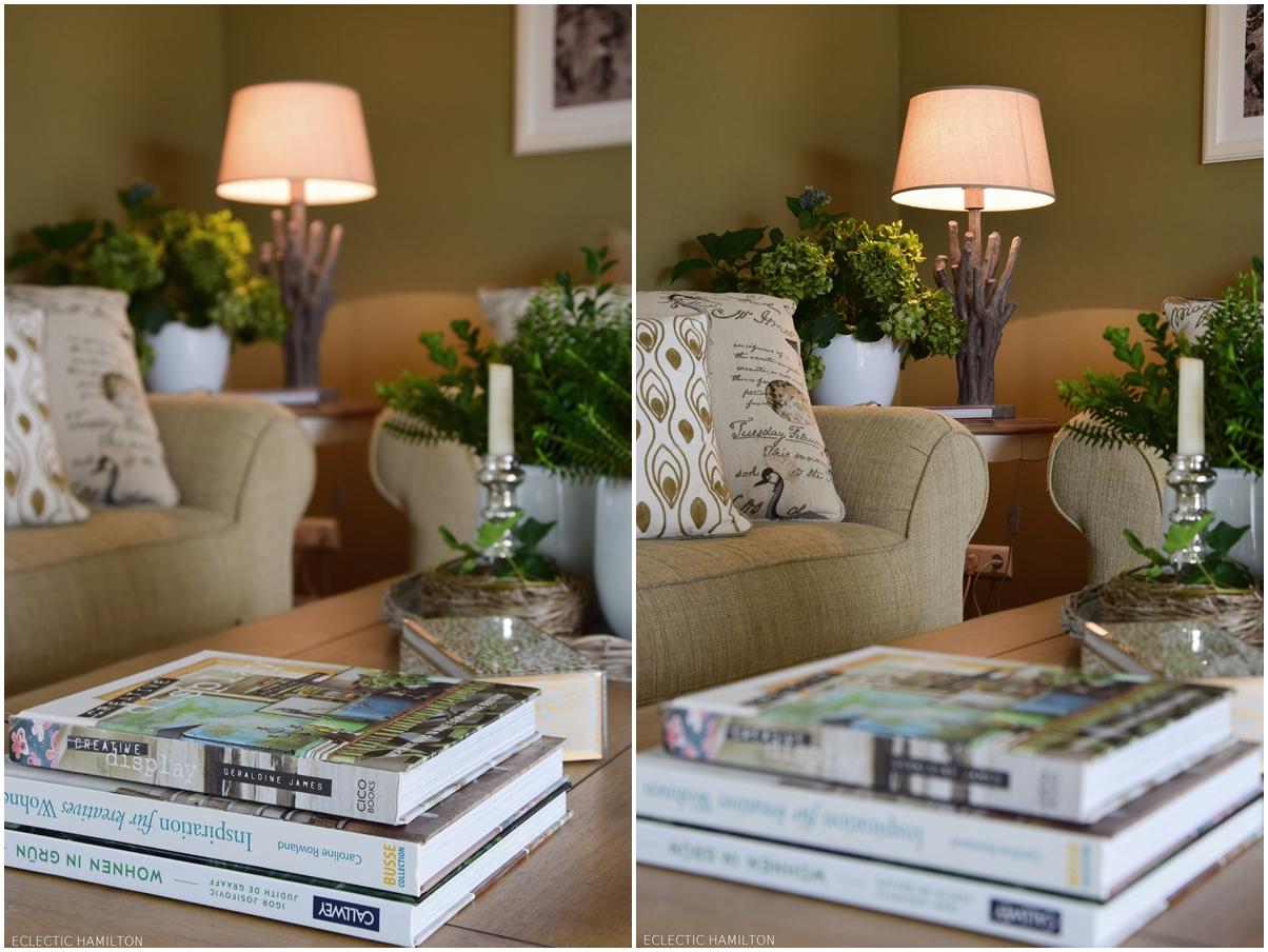 Tischdeko wohnzimmertisch  Schnelle immergrüne Deko für den Wohnzimmertisch | ECLECTIC HAMILTON