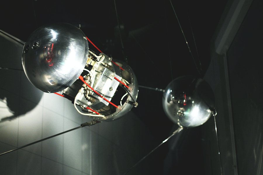Sputnik Model at Cosmonauts: Birth of the Space Age