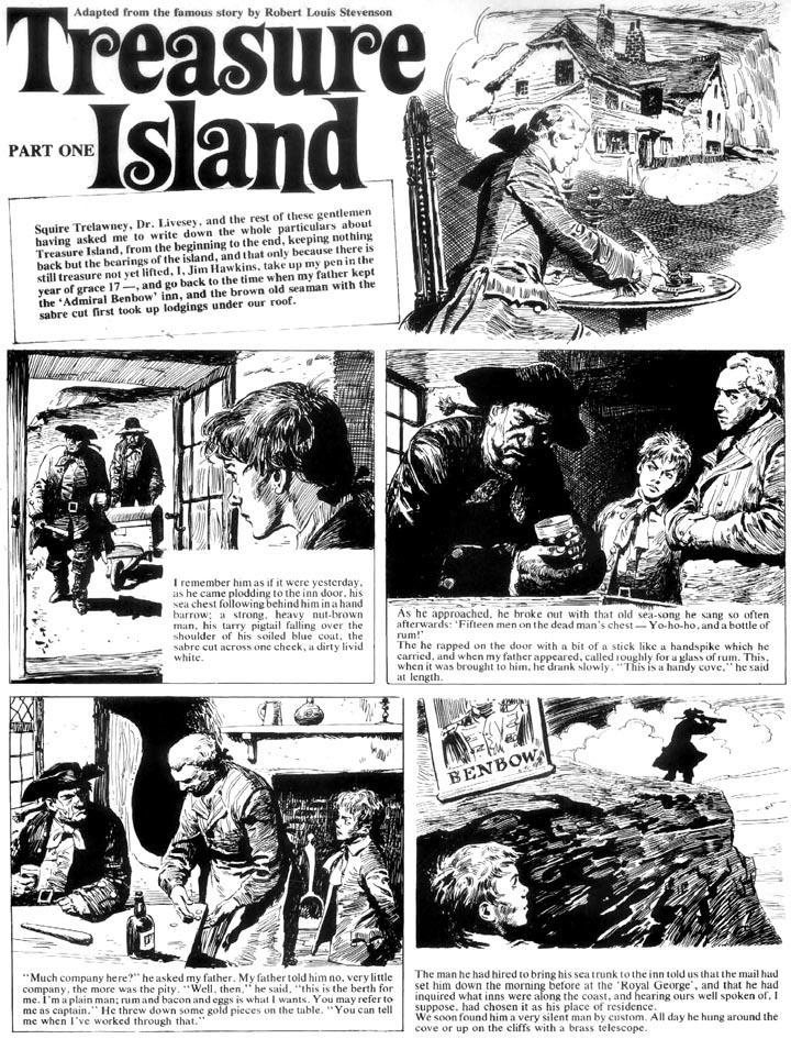 Treasure Island Comic Strip