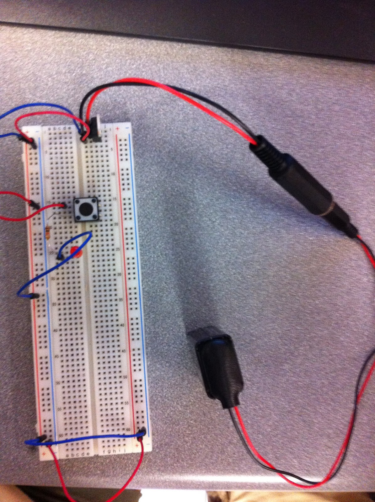 Led Circuit On Breadboard Physical Computing Berry College Fall
