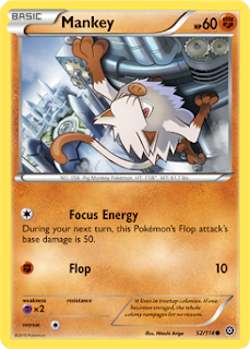 Mankey Steam Siege Pokemon Card