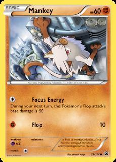 Mankey Steam Siege Pokemon Card