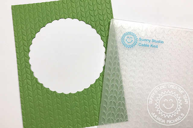 Sunny Studio Stamps: Foxy Christmas Fancy Frames Spinner Card Tutorial Christmas Card by Juliana Michaels