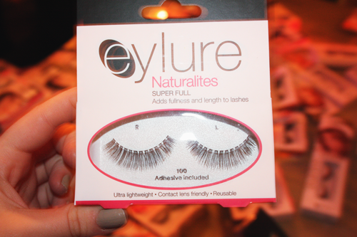 eylure naturalities false eyelashes in their packaging, being held by francesca sophia