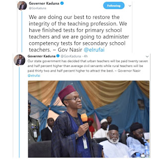 Kaduna State Government To Conduct Competency Test For Secondary School Teachers