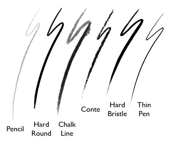 This conte brush is from simini blockers brush set thanks simini