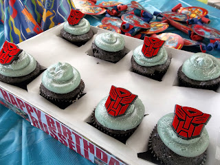 Transformer Birthday Party Supplies Cupcake Toppers