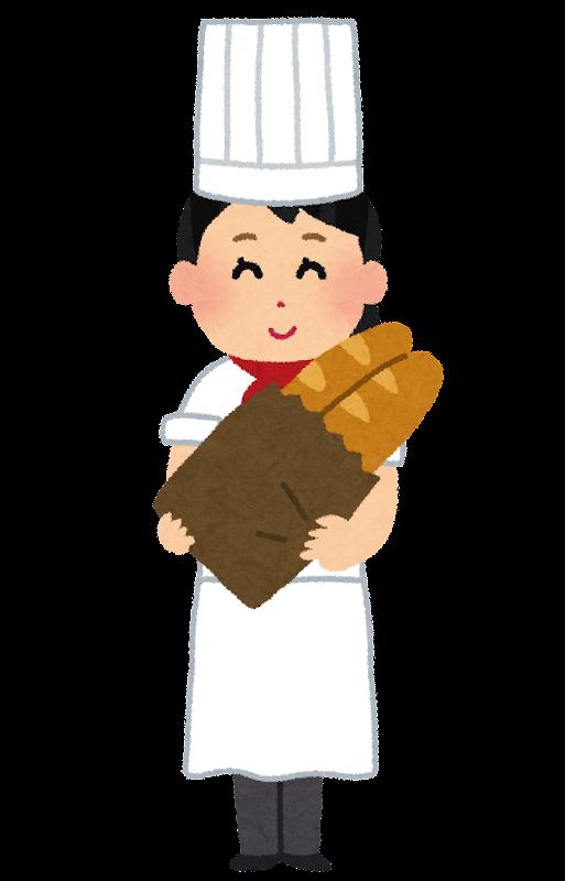 パン屋さんのイラスト女性 かわいいフリー素材集 いらすとや