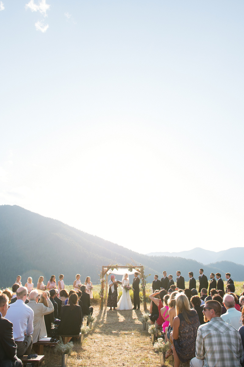 West Yellowstone wedding / ceremony / Amelia Anne Photography