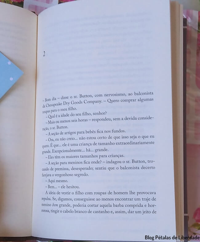 livro, o-curioso-caso-de-benjamin-button, f-scott-fitzgerald, Folha, trecho
