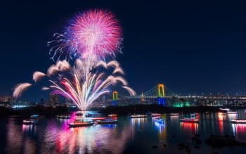 Wallpaper: Rainbows and Fireworks