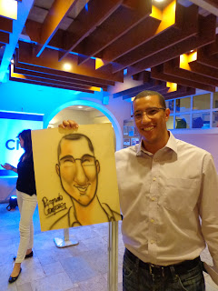caricaturas coloridas, evento corporativo