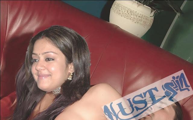 Jothika Sexy Fake Photos-HD Boob cleavage show