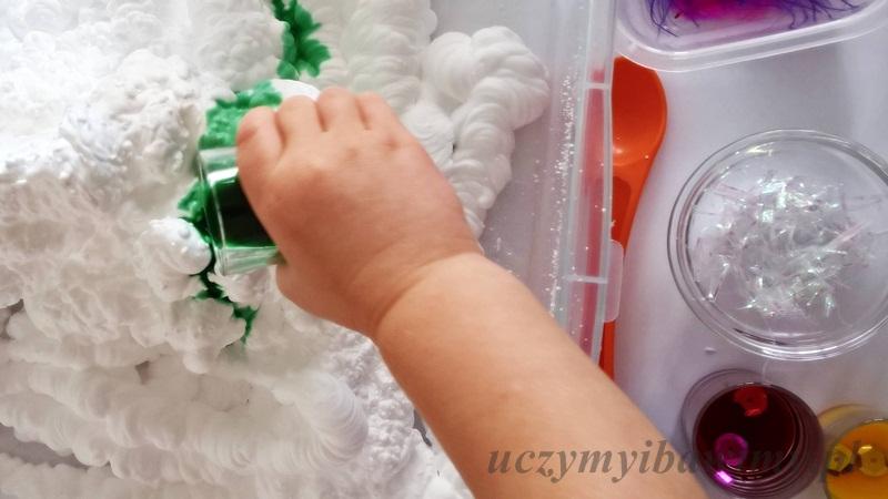 Integracja sensoryczna - pianka do golenia
