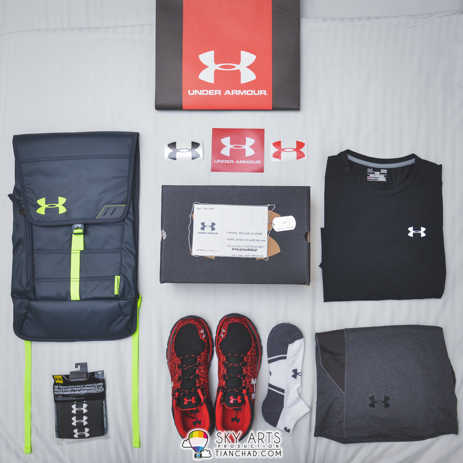 The Under Armour Latest Apparels With CoolSwitch Technology #flatlay